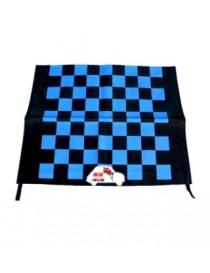 Telo capote a scacchi blu-neri Fiat 500 F/L/R