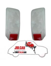 Coppia plastiche fanali posteriori bianche Fiat 500 F/L/R