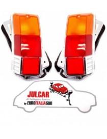 Coppia fanali posteriori completi modello LISCIO Fiat 500 F/L/R