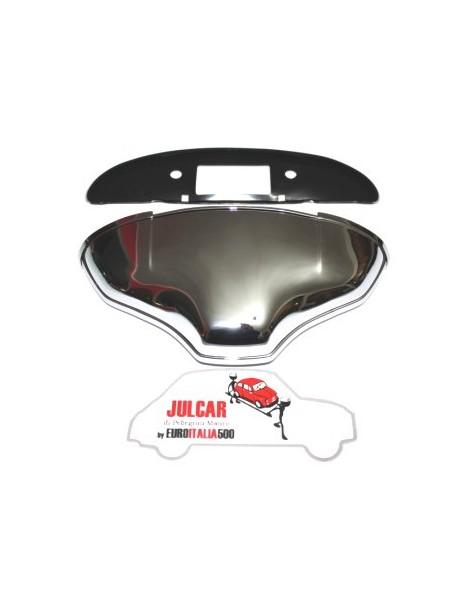 Fanalino luce targa in alluminio cromato Fiat 500