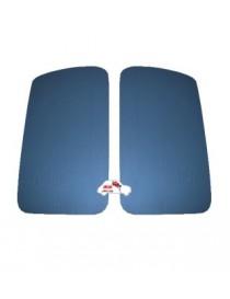 Coppia pannelli porta anteriori Fiat 500 D - Giardiniera blu Avio in Vipla