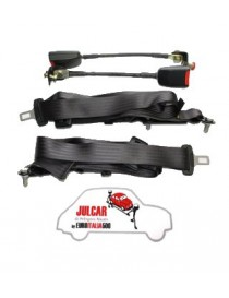 Cinture di sicurezza Omologate nere statiche Fiat 500