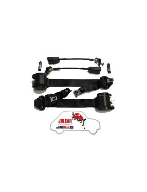 Cinture di sicurezza Omologate nere con arrotolatore Fiat 500