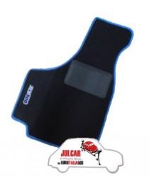 Kit sovratappeti bordo blu Fiat 500 ( 4 pezzi )
