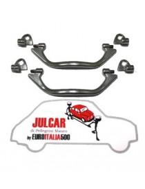 Coppia maniglie interne tira porta in zama cromate Fiat 500