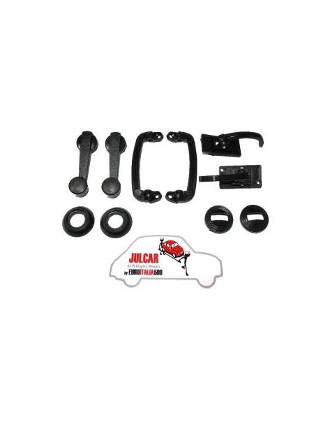 Kit maniglie interne nere in plastica Fiat 500 R