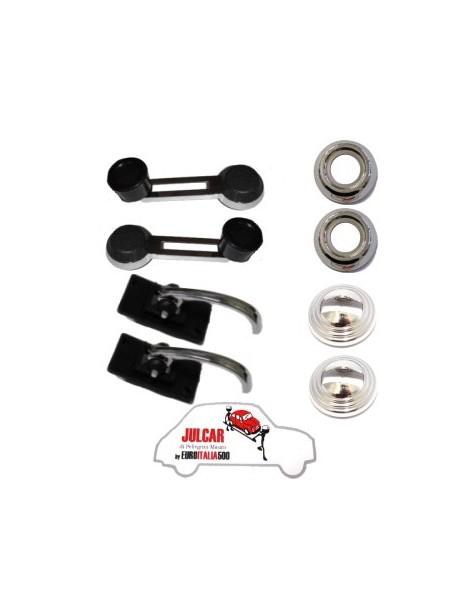Kit maniglie interne cromate alta qualità Fiat 500 L