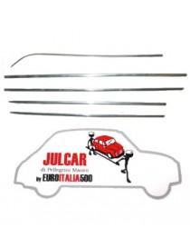 Kit completo modanature in alluminio Fiat 500 N/D
