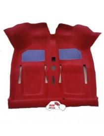 Moquette rossa doppia protezioni piedi Fiat 500