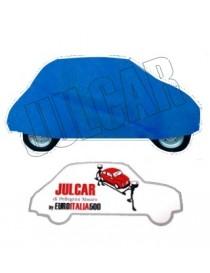 Telo copriauto da interno blu Fiat 500