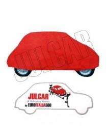 Telo copriauto da interno rosso Fiat 500