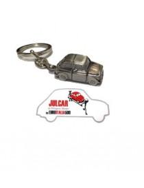 Portachiavi metallo satinato Fiat 500