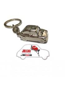 Portachiavi metallo lucido Fiat 500