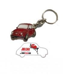 Portachiavi metallo rosso Fiat 500