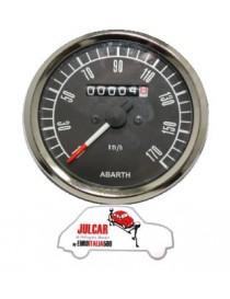 Strumento contachilometri nero Abarth Ø 80 mm Fiat 500