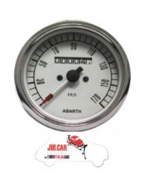 Strumento contachilometri bianco Abarth Ø 80 mm Fiat 500