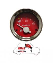 Strumento livello benzina rosso Abarth Ø 52 mm Fiat 500