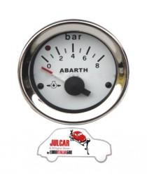 Strumento pressione olio bianco Abarth Ø 52 mm Fiat 500