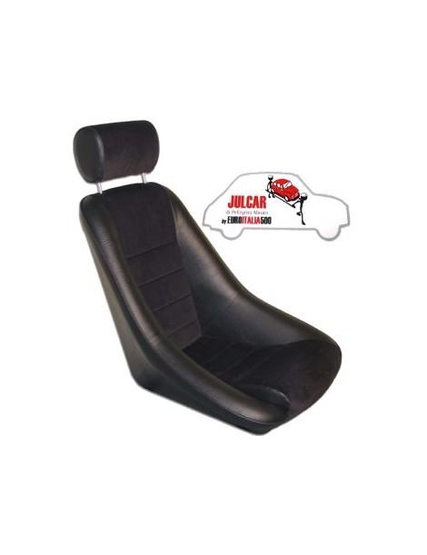 Sedile sportivo NERO con poggiatesta modello Fusina Fiat 500