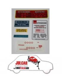 Kit adesivi completo Fiat 500 F/L/R/G