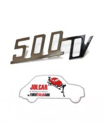Scritta cromata Giannini 500TV per cofano motore 8,8 x 3 cm Fiat 500