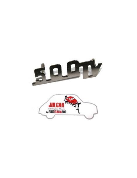 Scritta cromata Giannini 500TV per cruscotto 6 x 2 cm Fiat 500