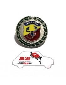 Fregio stemma decorativo alloro Abarth Ø 5,7 cm Fiat 500
