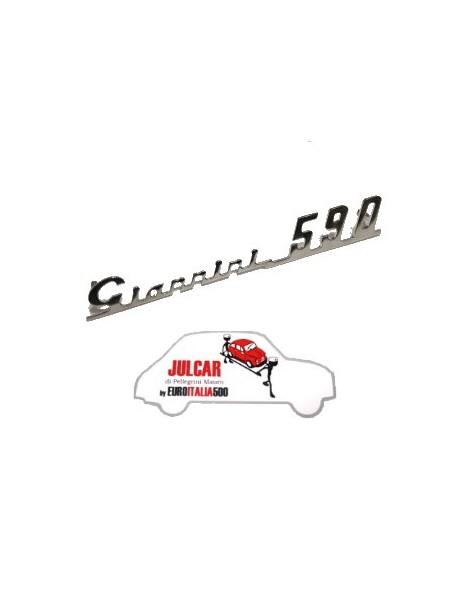 Scritta cromata Giannini 590 per cruscotto Fiat 500