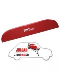 Pannello mensola lunotto posteriore rosso con scritta bianca Fiat 500