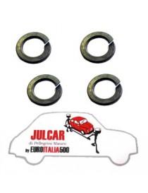 Kit 4 rondelle Grower per fissaggio bulloni cerchio ruota Fiat 500