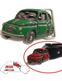 Fibbia cintura verde Fiat 500