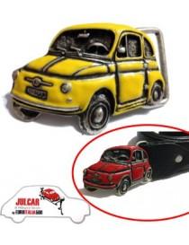 Fibbia cintura gialla Fiat 500