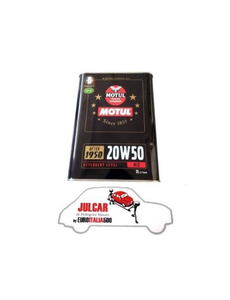 2L Olio motore minerale MOTUL 20W50 per auto d'epoca Fiat 500/126/600