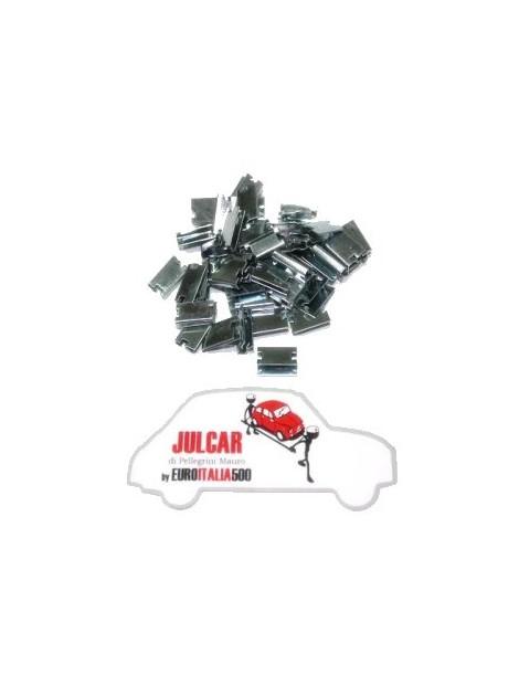 Kit mollette fissaggio raschiavetro 50 pz Fiat 500/600/126