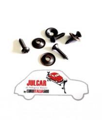 Kit 4 viti e sottoviti per fissaggio moquette preformato Fiat 500
