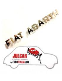 Scritta cromata FIAT ABARTH con lettere separate Fiat 500