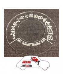 Vetrino cruscotto Giannini 150 KM/H Fiat 500