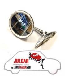 Specchio esterno rotondo piatto a vite con guarnizione Fiat 500
