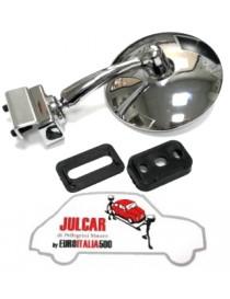 Specchio esterno rotondo piatto a morsetto con guarnizione Fiat 500