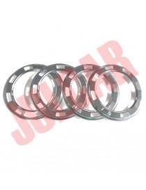 Kit 4 anelli cromati cerchio ruota Fiat 500 My Car Francis Lombardi