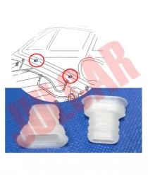 Coppia tubetti bianchi scolo acqua parabrezza Fiat 500 N/D/F/L/G