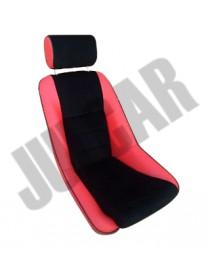 Sedile sportivo ROSSO con poggiatesta modello Fusina Fiat 500/126