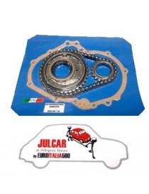 Kit completo distribuzione alta qualità con catena a rulli Fiat 500/126