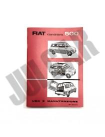 Libretto uso e manutenzione Fiat 500 Giardiniera
