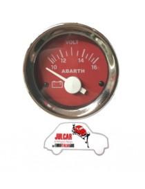 Strumento voltmetro rosso Abarth Ø 52 mm Fiat 500