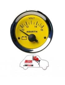 Strumento voltmetro giallo Abarth Ø 52 mm Fiat 500