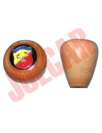 Pomello leva marce in legno Abarth Fiat 500