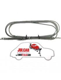 Kit tubi freno in metallo Fiat 500 F/L/R