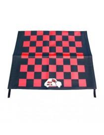 Telo capote a scacchi rossi-neri Fiat 500 F/L/R