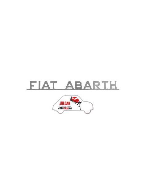 Scritta cromata Fiat Abarth 22,5 x 2,5 cm